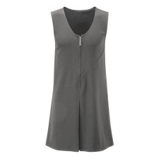 Girls Grey HMS Front Zip Pinafore